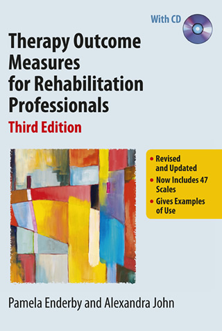 Book cover of Therapy Outcome Measures for Rehabilitation Professionals